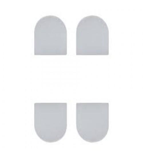 Колпачки декоративные для скрытой петли ECLIPSE 3.0, 000234 белый 4шт
