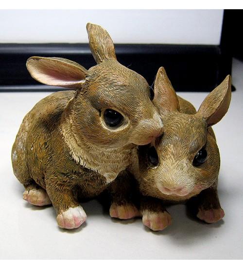 Pereche de iepuri decorative