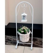 Кашпо для цветов на подставке с фонарем