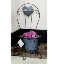 Кашпо для цветов стул Welcome