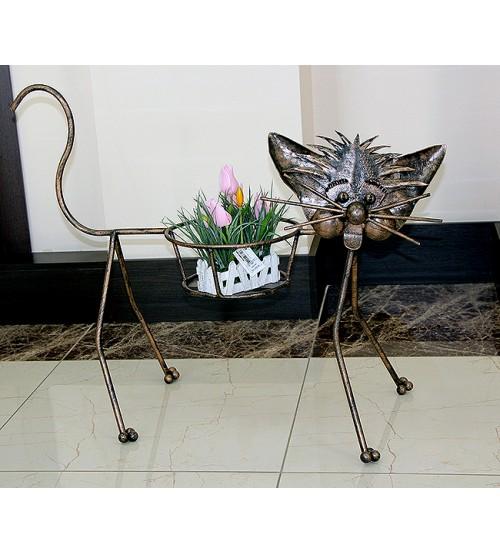 Suport pentru flori din fier forjat Motan