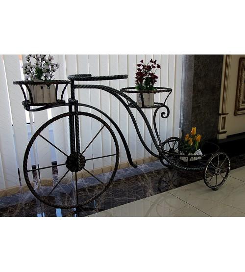 Подставка для цветов кованая Велосипед