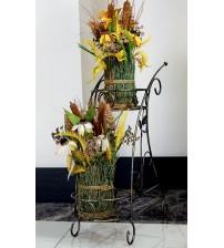 Suport din fier forjat pentru flori