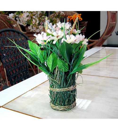 "Flori artificiale in ghiveci ""Buchet de flori de cimp"""