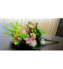 Buchet de flori roz artificiale