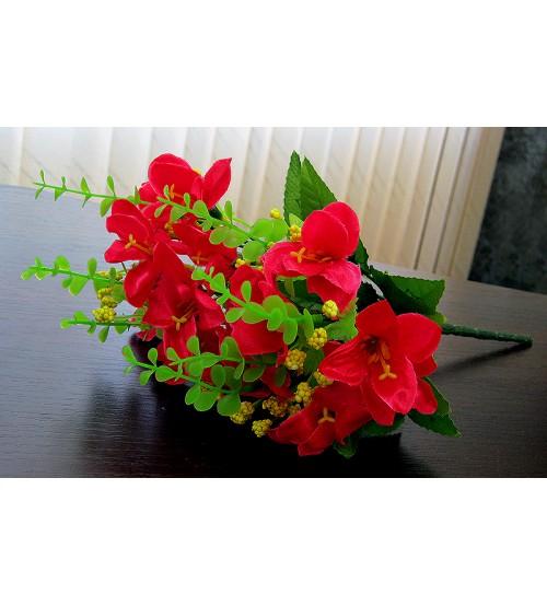Buchet de flori rosii artificiale