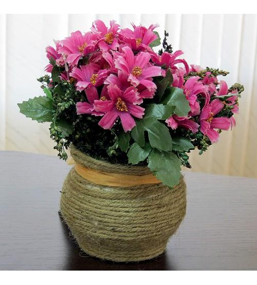 Flori artificiale in ghiveci roz
