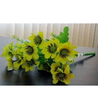 Buchet flori salbatice galben artificială