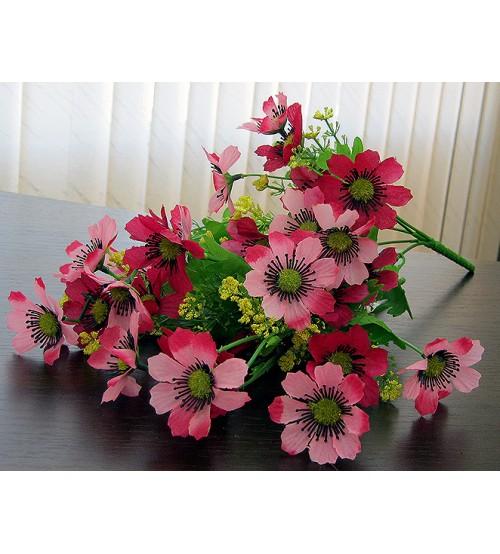 Buchet flori salbatice roz artificială