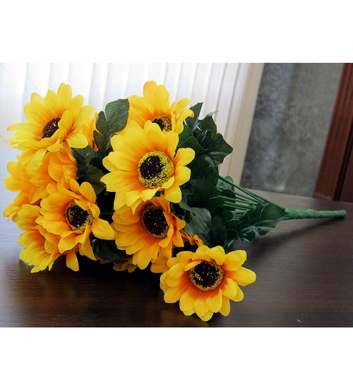 Creanga artificiala de floarea soarelui