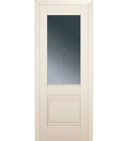 """Дверь межкомнатная """"2U"""" магнолия сатинат, ПО"""