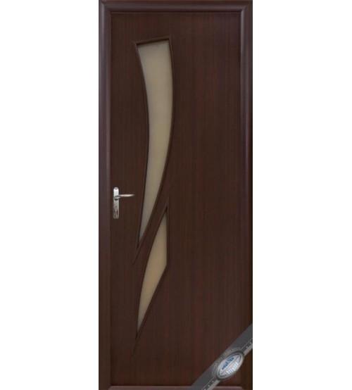"""Дверь межкомнатная """"Камея"""" каштан ,ПО"""