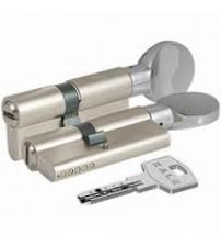 Cilindru KALE 164BM 45+10+45  nichel 100 mm cheie-blocator