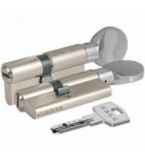 Cilindru KALE 164BM 40+10+40 nichel 90 mm cheie-blocator