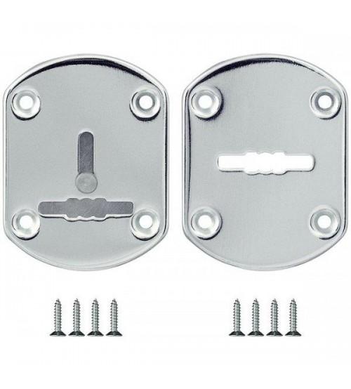 Rozeta de cheie FUARO ESC021-CP-8 crom 2 buc