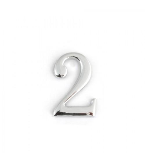 Numar Apecs DN-01-2-Z-CR crom lucios