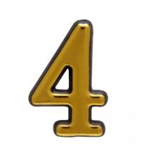 """Numar AMIG """"4"""", aur"""