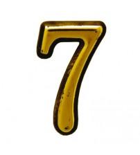 """Numar AMIG """"7"""", aur"""