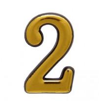 """Номерок AMIG """"2"""", золото"""