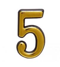 """Numar AMIG """"5"""", aur"""