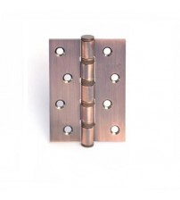 Петля дверная APECS  100*75-B4-Steel-AC медь античная