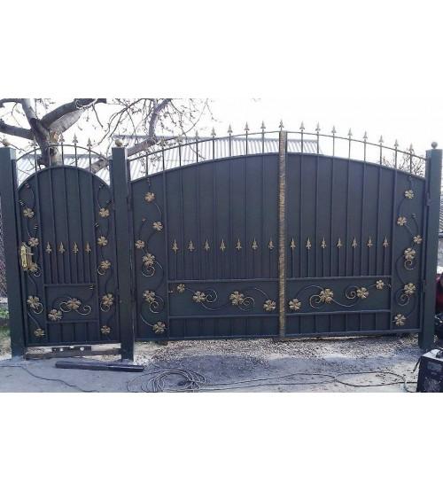 Ворота металлические №14