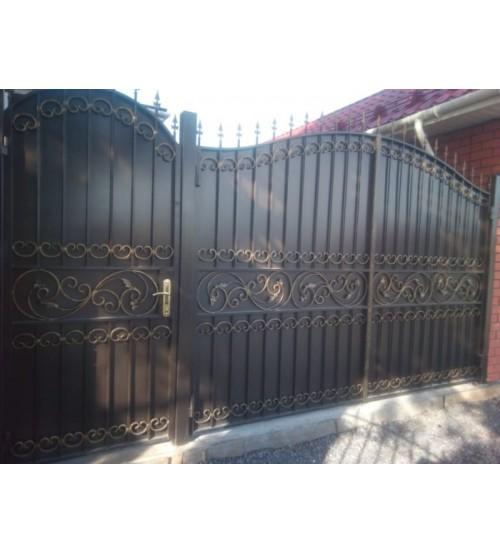 Ворота металлические №16